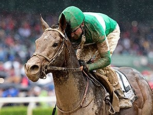Exaggerator and Kent Desormeaux dominate the Santa Anita Derby.