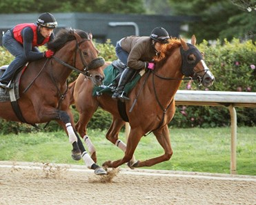 Whitmore trains at Oaklawn Park April 9, 2016