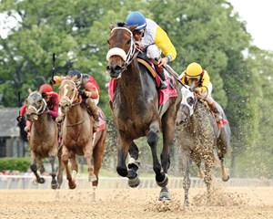 Charles Fipke's homebred Forever Unbridled claimed her third straight graded score and first at the top level in the $600,000 Apple Blossom (gr. I) at Oaklawn Park.