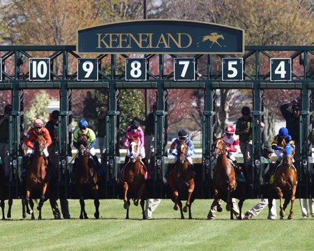 Catch A Glimpse with Florent Geroux wins the Keeneland Appalachian Stakes (gr. III) presented by Japan Racing Association. April 14, 2016