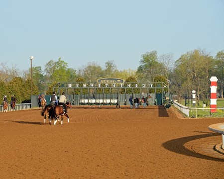 Gate training at Keeneland, April 2016