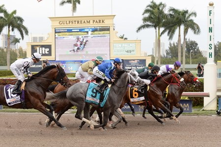 Nyquist wins the 2016 Florida Derby - Start