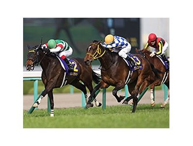 Jeweler wins the Oka Sho.