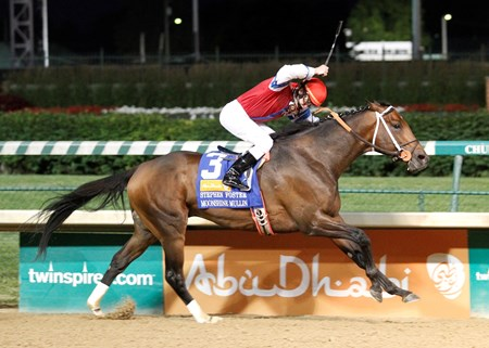 Moonshine Mullin with Calvin Borel wins the Stephen Foster Handicap (gr. I)  at Churchill Downs on June 14, 2014.