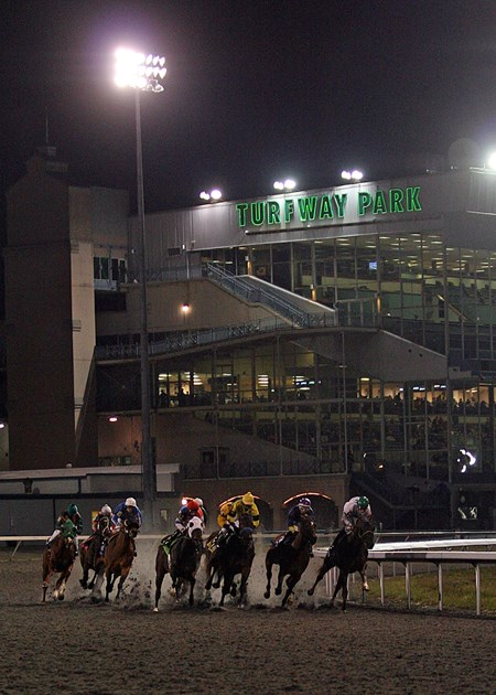 Turfway Park Winter Racing scene