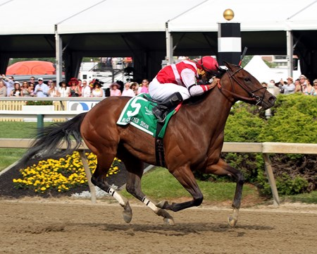 Go Maggie Go with Luis Saez win the 92nd Running of the Black-Eyed Susan Stakes at Pimlico on May 20, 2016.