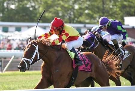 Isabella Sings, with Paco Lopez riding, won the $75,000 Miss Liberty Stakes at Monmouth Park in Oceanport, New Jersey on Sunday May 29, 2016.