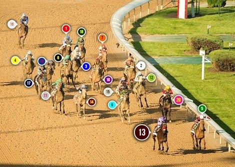 2016 Kentucky Derby Race Sequence