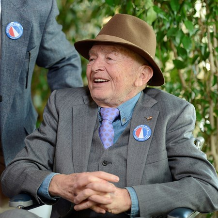 Fred Bradley, co-owner of Groupie Doll Breeders' Cup races at Santa Anita near Arcadia, California, on Nov. 3, 2012.