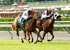 Caption: Stays in Vegas (outside) wins Senorita Stakes (gr. IIIT).