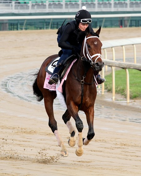Rachel's Valentina on the track at Churchill Downs on May 1, 2016.