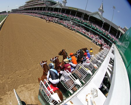 The start of the 31st Running of The La Troienne (GI) at Churchill Downs on May 6, 2016.
