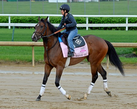 Go Maggie Go Works at Churchill Downs on May 1, 2016, in Louisville, Ky.