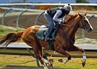 California Chrome worked a half-mile in :49 4/5 on May 21.