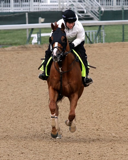 Whitmore on the track at Churchill Downs on May 5, 2016.