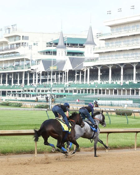 Mor Spirit works at Churchill Downs May 2, 2016