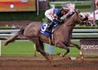 Enola Gray cruises to a maiden victory at Santa Anita