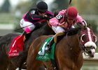 Passion for Action (5) holds off Stacked Deck (1) in the Vigil Stakes