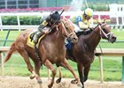 Diva Express (inside) and I'm a Looker finish together in the Winning Colors.