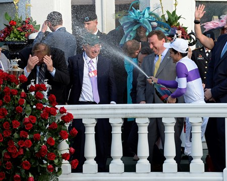 Nyquist with Mario Gutierrez wins the Kentucky Derby (gr. I)  Kentucky Derby day at Churchill Downs on May 7, 2016, in Louisville, Ky.