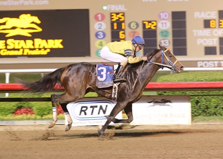 Thegirlinthatsong wins the 2014 Texas Stallion Stakes Got Koko Division