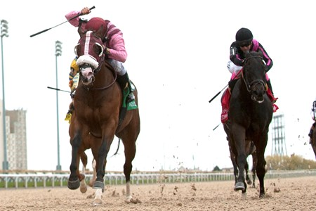 Jockey Eurico Da Silva guides Passion for Action to capture the $150,000 dollar Vigil Stakes at Woodbine Racetrack.Passion for Action is owned by Ben Hutzel of Toronto Ont. and trained by Michael De Paulo.