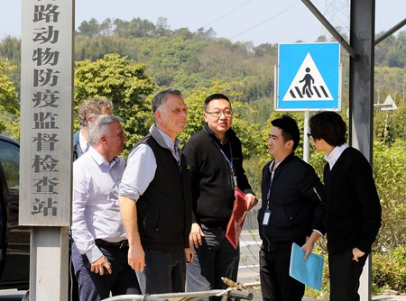 Cross-border horse transport team waiting at the internationally recognized Specific Equine Disease-Free Zone (SEDFZ) Successful cross-border movement of horses between Hong Kong and Mainland China marks major milestone in the development of the Conghua Training Centre in Guangzhou