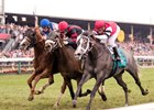 Vielsam (center) just misses in Gallorette Handicap