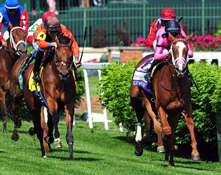 (May 6, 2016) Catch a Glimpse, Florent Geroux up, holds off Auntie Joy, to win the GR.3 Edgewood at Churchill Downs.