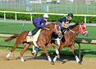Oscar Nominated (outside) with Julien Leparoux aboard at Churchill Downs April 29