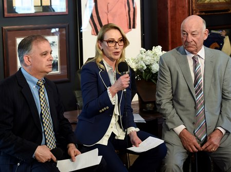 Tim Ritvo, Belinda Stronach, and Jack Wolf (left to right)