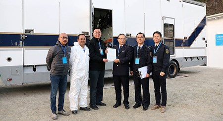 Securing the approval from the mainland government authorities before returning to Sha Tin in early morning of 1 March. Successful cross-border movement of horses between Hong Kong and Mainland China marks major milestone in the development of the Conghua Training Centre in Guangzhou