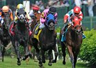 Camelot Kitten (right) holds off Beach Patrol in the American Turf (gr. IIT)
