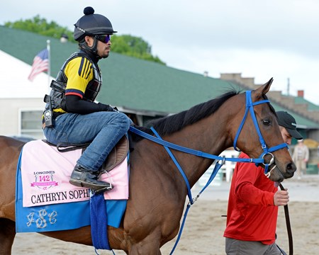 Cathryn Sophia to track for first time at Churchill Downs on May 2, 2016, in Louisville, Ky.