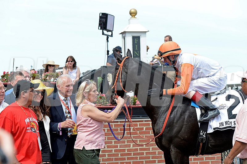 Ben's Cat with Trevor McCarthy wins the Jim McKay Turf Sprint for King Leatherbury Preakness week at Pimlico in Baltimore, Md., on May 20, 2016.