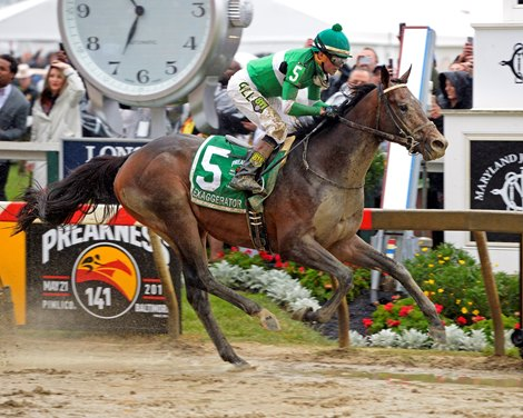 Exaggerator Turns The Tables Wins Preakness Bloodhorse