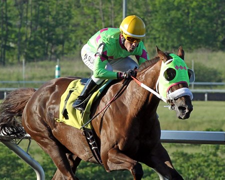 Disco Barbie wins the Satin and Lace Stakes Prep May 30