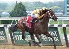 "Cavorting wins the 2016 Ruffian Stakes<br><a target=""blank"" href=""http://photos.bloodhorse.com/AtTheRaces-1/At-the-Races-2016/i-k3LqNLT"">Order This Photo</a>"