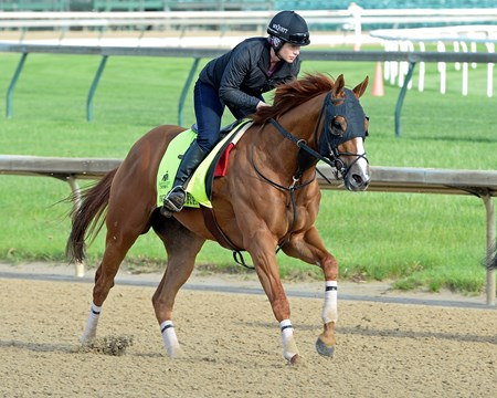 Whitmore works at Churchill Downs on May 2, 2016, in Louisville, Ky.