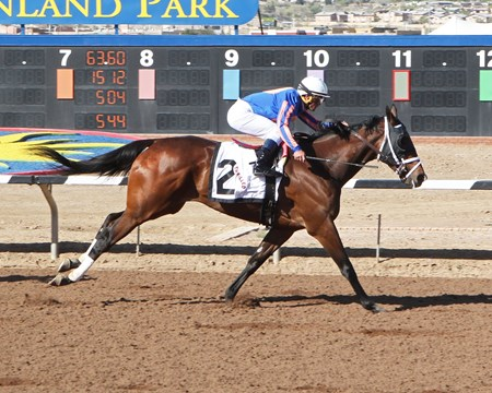 Thrilled wins the Plum Pretty Stakes March 20