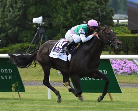 Flintshire with Javier Castellano wins the Woodford Reserve Manhattan (gr. I).