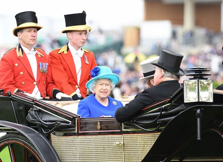 The Queen at Royal Ascot June 18, 2016