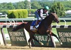 Exaggerator Floats Turn in Belmont Breeze