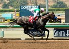 Arrogate wins an allowance race at Santa Anita Park June 24