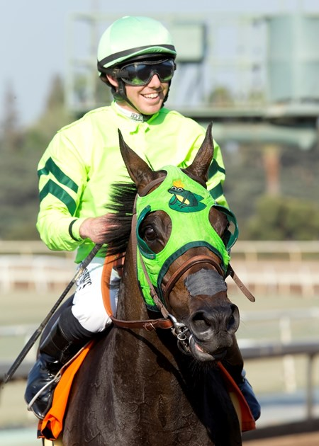 Tarabilla Farms' Melatonin and jockey Joseph Talamo win the Gold Cup at Santa Anita, Saturday, June 25, 2016.