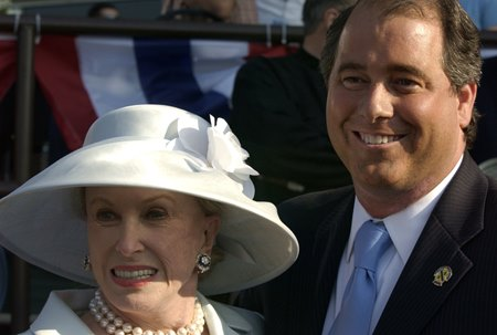 John Hendrickson with wife Marylou Whitney