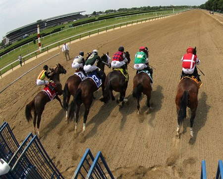 The start of the Acorn at Belmont Park on June 11, 2016 at Belmont Park.