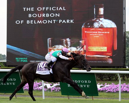 Flintshire with Javier Castellano win the 115th Running of The Manhattan (GI) at Belmont Park on June 11, 2016.