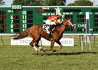 Isabella Sings wins Eatontown Stakes June 25 at Monmouth Park.