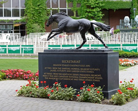Secretariat statue in paddock